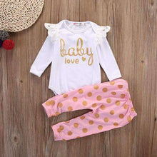 Load image into Gallery viewer, Baby Love Romper Set