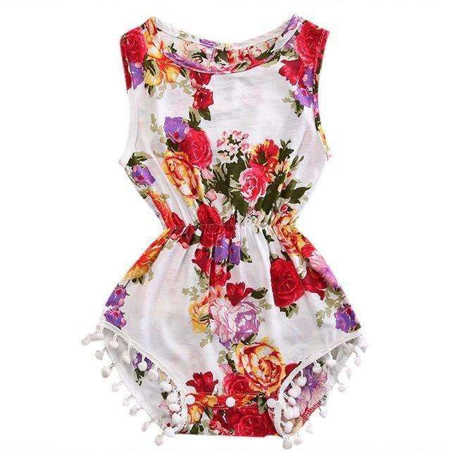 Sleeveless Flower Romper