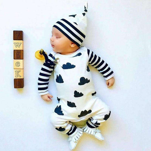 New Style Infant Cloting Set Autumn Baby Boy Girl Romper