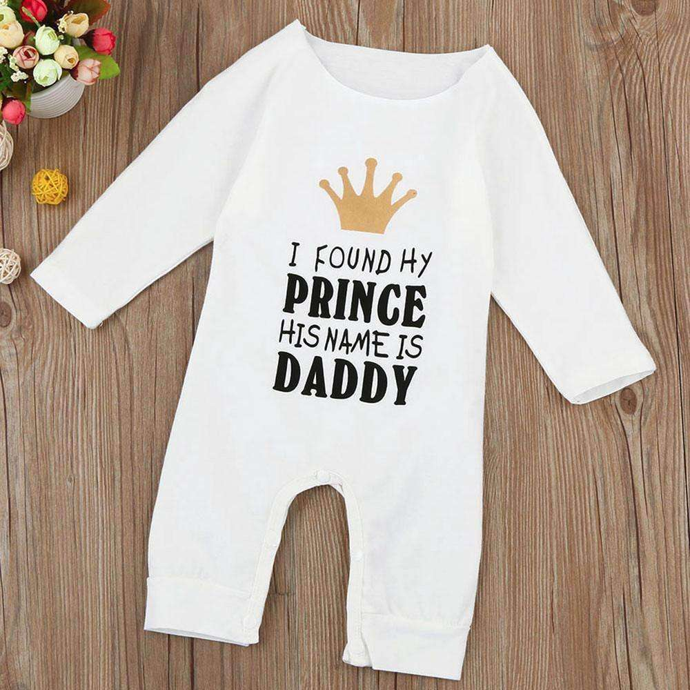 """I found my prince his name is Daddy"" Romper"