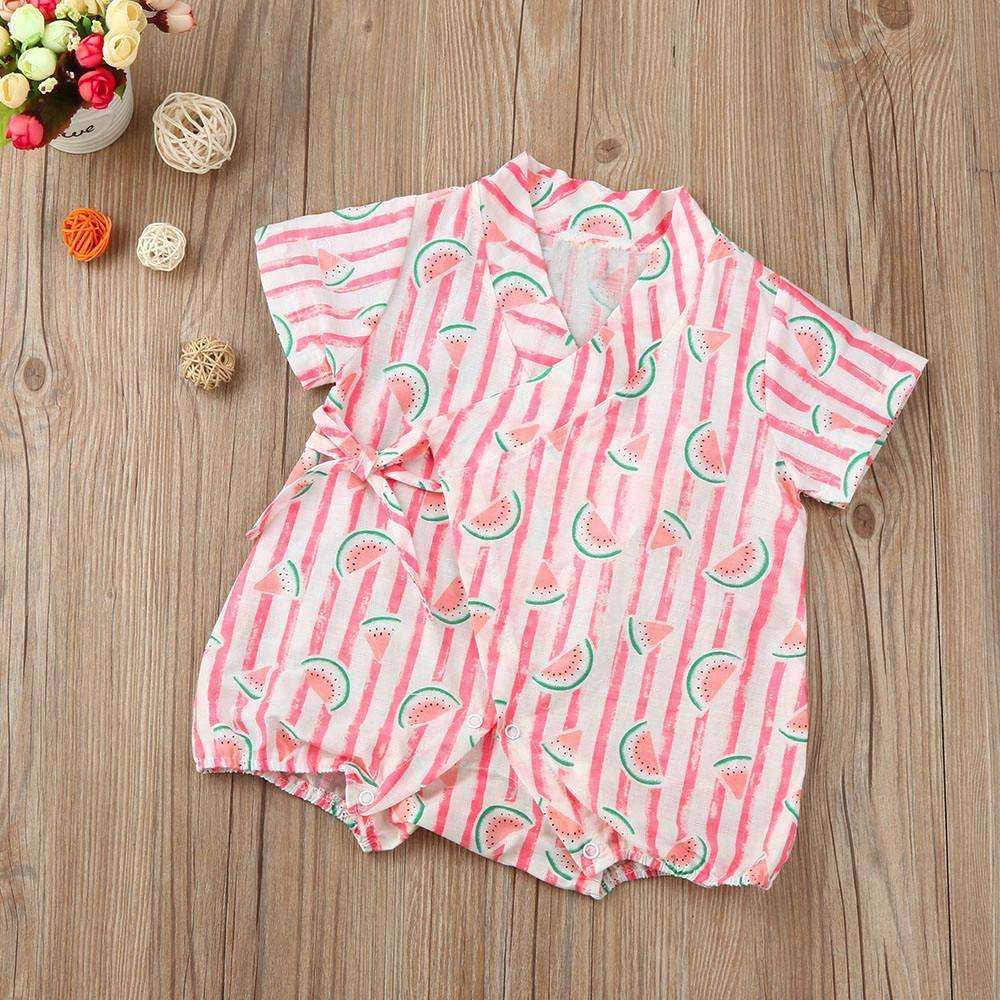 Romper Watermelon Striped