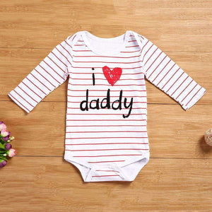 """I Love Daddy"" Long Sleeved Romper"