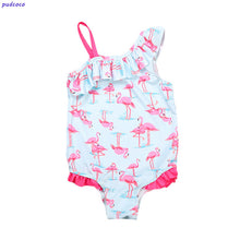Load image into Gallery viewer, Lovely Flamingo Swimsuit