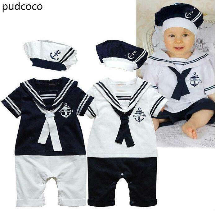 White Sailor Outfits Baby Boys Suits