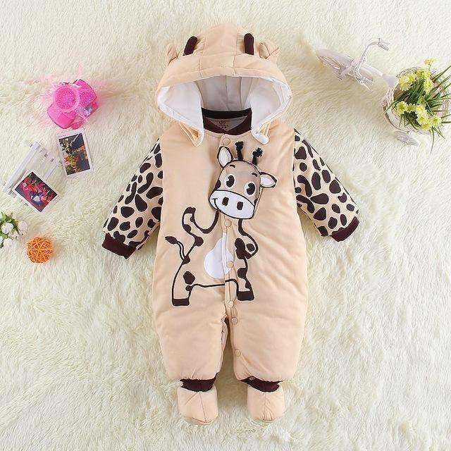 Winter Jumpsuit Animal Pattern