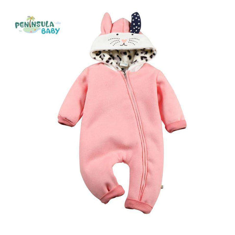 Winter Jumpsuit Fleece Cartoon
