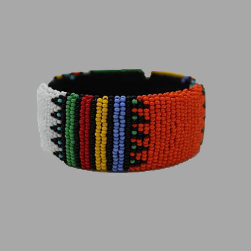 Beaded Bangle Free Size  african bangles handcrafted for women and girls in green purple red yellow multicolor design south african tardition jewelry