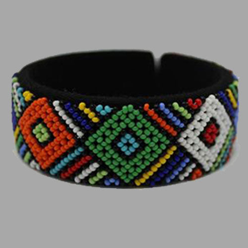 Beaded Bangle Free Size bracelet african bangles handcrafted for women and girls in green purple red yellow multicolor design south african tradition jewelry