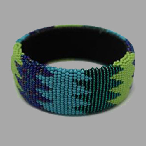 Beaded Bangles-free size -2 african bracelet  handcrafted for women and girls in green purple yellow green multicolor design south african tradition jewelry