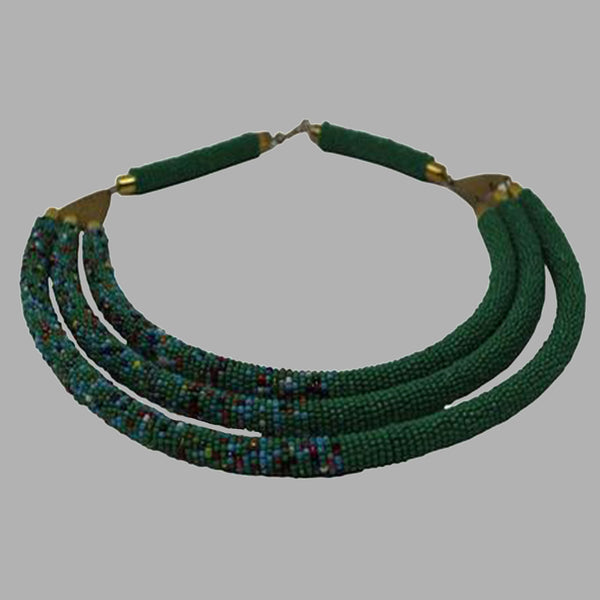Contemporary Beaded Necklace beading patterns beaded jewelry for women and girls in green color design south african tradition jewelry