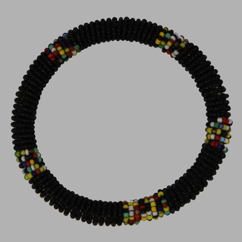 Black Bracelet african bracelets handcrafted for women and girls multicolor design south african tradition jewelry