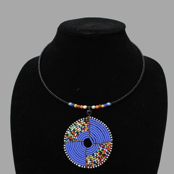 oval wrap necklace handmade  geometric jewelry  african design  for women and girls