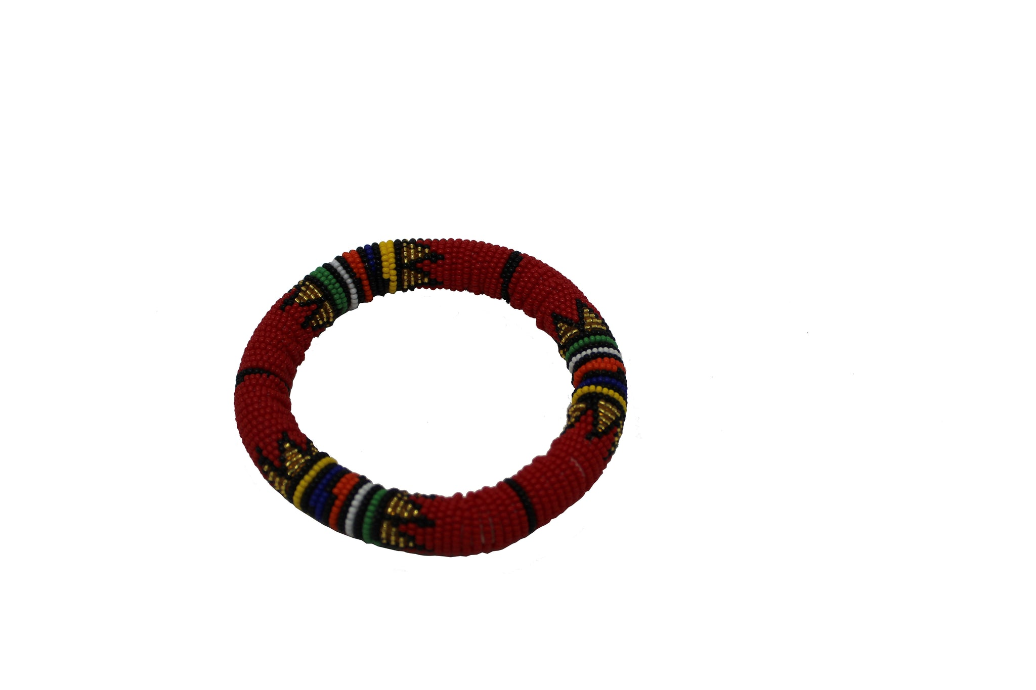 Red & Gold-Thick Rolled Braceletroll handmade  geometric jewelry  african design  for women and girls