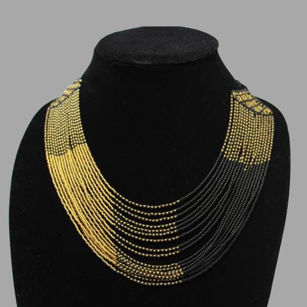 Swirling Beaded Elegant Necklace handmade african design for women and girls