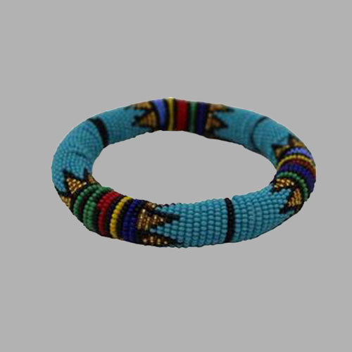 Teal With Gold Thick Rolled Bracelet geometric jewelry handmade african design for women and girls