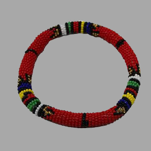 Thin Bangles-Red-Small & Large geometric jewelry handmade african design for women and girls