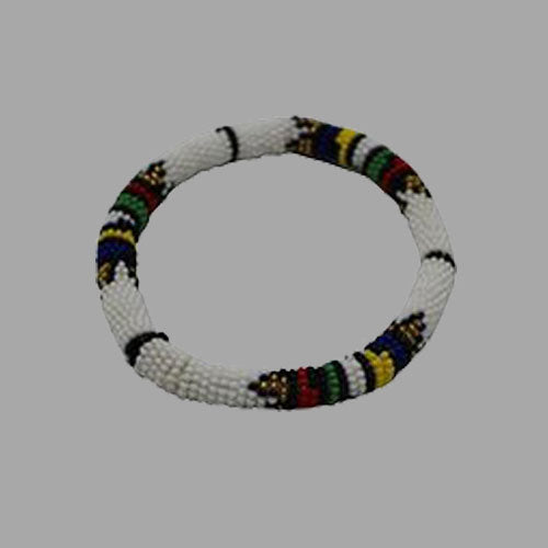Thin Bangles-White-Large & Small geometric jewelry handmade african design for women and girls