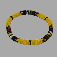 Thin Bangles-Yellow-Large & Small geometric jewelry  handmade african design  for women and girls
