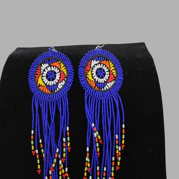 Traditional Earrings-Bluegeometric jewelry  handmade  african design  for women and girls