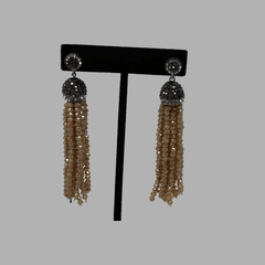 black brown drop earrings hanging  handcrafted for women and girls south african tradition jewelry