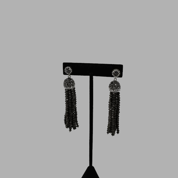 black earrings drop hanging earrings handcrafted for women and girls south african tradition jewelry