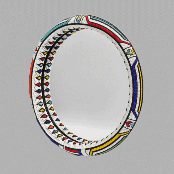 AWARD WINNING-Oversize-Thando Circle Mirror-Traditional circle mirror  for women african bracelets