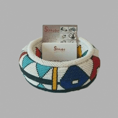 Small-Thando Circle Holder geometric jewelry handmade african design home décor in multi color