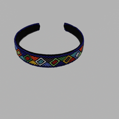 Thick Beaded Hairband geometric jewelry handmade african design for women and girls