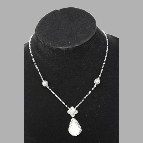 Pearl Pewter necklace ashes cremation jewelry handmade african design  for women and girls