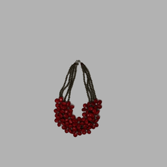 Red Coral Necklace handmade  geometric jewelry african design for women and girls