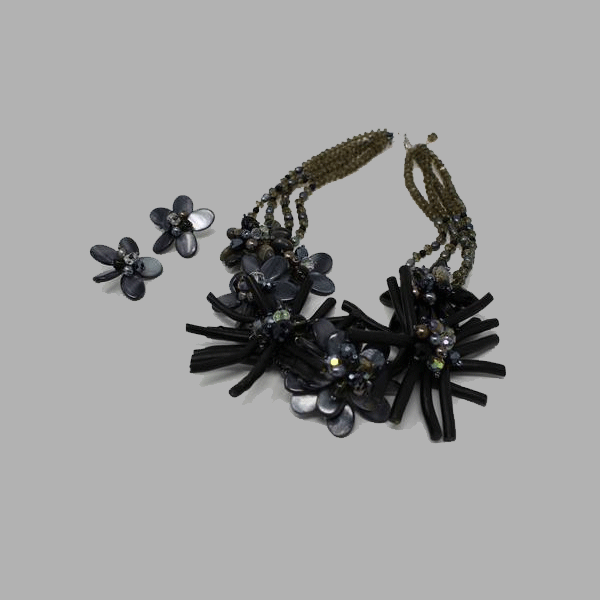 Black Coral Necklace black  jewelry for women and girls south african tradition jewelry