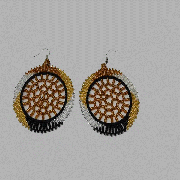 Small Hanging Disc Earrings geometric jewelry handmade african design for women and girls