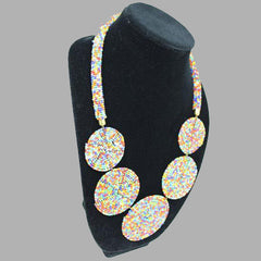 Zulu 5 Disc Elegant Necklaces In Warm & Vivid Colors