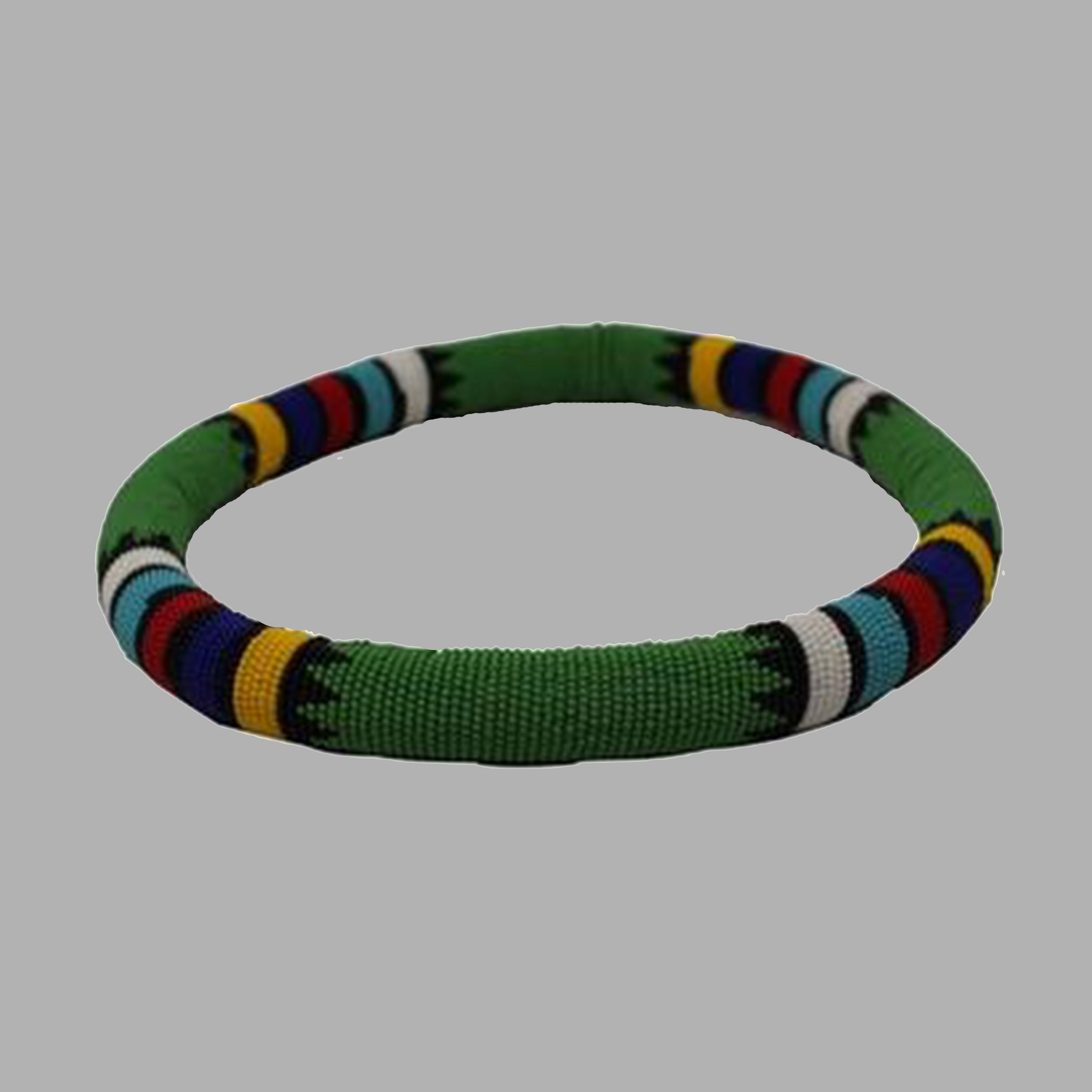 Zulu Thick Necklace-Green handmade  african design  for women and girls