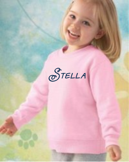 Toddler Sweatshirt With Full Chest Monogram