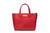 The front side of MEI LI's SOPHIA red leather bag.