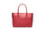 The front of MEI LI's Signature Red MICHELLE shoulder tote.