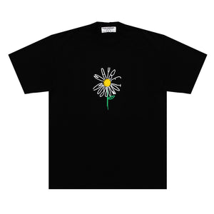 """Daisy"" in Black T-Shirt"