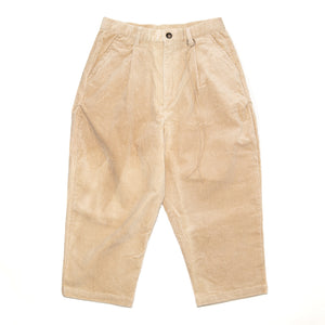 Everyday Crop Corduroy Pants - Cream