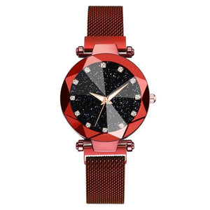 Womens Magnetic Starry Night Galaxy Inspired Quartz Wrist Watch