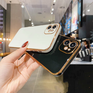 Luxury Gold Plated Elegant Case for iPhone 11, X, XR, XS