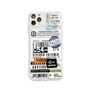 Retro Barcode Label Phone Case for iPhone 12, 11, X, XR, 7, 8, 6