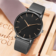 Mens 40mm Quartz Simple Minimalist Luxury Watch