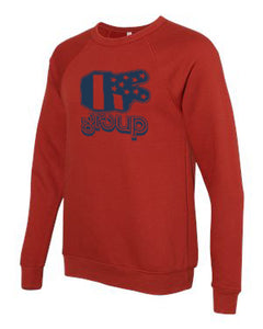 "group ""dig it"" raglan crewneck sweatshirt"
