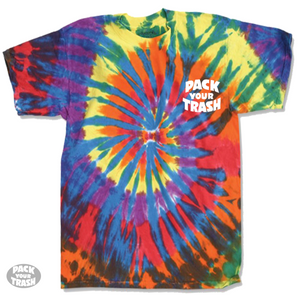 "Pack Your Trash ""Surf Geek"" S/S tye dye"
