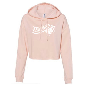 "PYT""Flower"" womens Cropped Pull Over Hoody"