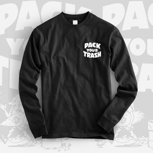 "Pack Your Trash ""Surf Geek"" Mens Long Sleeve"