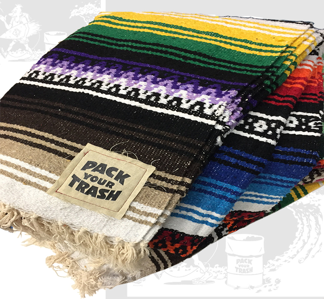 """Mexican Beach Blanket: Pack Your Trash Mexican """"Beach Blanket"""""""
