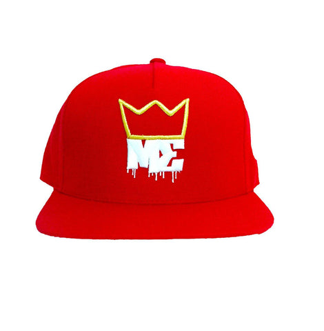 newest ae60d cd402 King ME Snapback -Red Metallic Gold