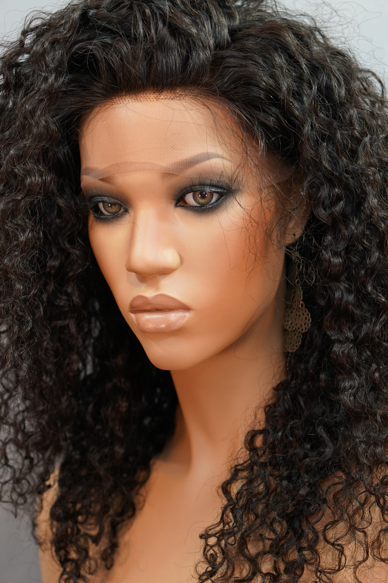 Allison Front Lace Wig - My Elegant Tresses - Curly Human Hair Wig